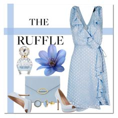 """""""The Ruffle"""" by whiteflower7 ❤ liked on Polyvore featuring Lulu Guinness, Barneys New York, LC Lauren Conrad, Pour La Victoire, Topshop and Marc Jacobs"""