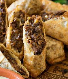 Cheesesteak Egg Rolls PLUS a Certified Angus Beef & Le Creuset Giveaway
