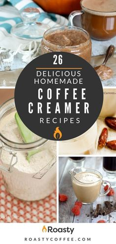 Making your own coffee creamer isn't as difficult as you'd probably think. From French vanilla to almond joy flavor we have you covered. It's healthier costs less than the store-bought ones and is really simply tastier. Try one recipe today! Vanilla Coffee Creamer, French Vanilla Creamer, Homemade Coffee Creamer, Coffee Creamer Recipe, Latte Recipe, Almond Joy Creamer Recipe, French Vanilla Iced Coffee Recipe, Healthy Coffee Creamer, Make Your Own Coffee