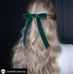 Gorgeous! Simple and timeless hair accessory. Such a simple way to add interest to your hair! #hairbow #cheerbows #bridgetbardot #bow #mermaidhair #tousledhair #halfuphalfdownhairstyle #halfuphalfdown #velvet #blondehair #hairstyles #hairinspo #hairaccessories #hairaccessory #timeless #timelessstyle #hair #hairgoals #style #dailyinspo #independentbusiness #accessories #howtostyle #chic #luxury Black Hair Bows, Bridget Bardot, Tousled Hair, Half Up Half Down Hair, Cheer Bows, Mermaid Hair, Hair Accessory, Hair Inspo, Simple Way