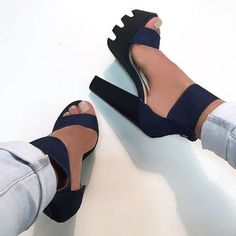 blue and tacones image on We Heart It