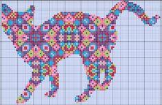 Three colourful cat cross stitch patterns - Imgur