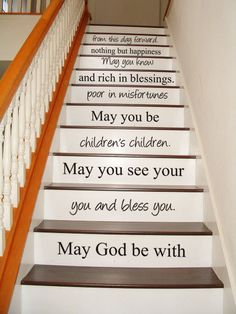 Irish Blessing - STAIR CASE - Art Wall Decals Wall Stickers Vinyl Decal Quote on Etsy, $34.95