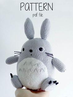 Totoro Amigurumi Pattern por Toffoletta en Etsy