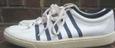 Rare Vintage 1980s Original K Swiss White & Blue 5-Stripe Tennis Shoes Sz 11 EUC #KSwiss #Athletic #Everyday Vintage Sneakers, 1980s, Tennis, Adidas Sneakers, Athletic, The Originals, Best Deals, Womens Fashion, Closet