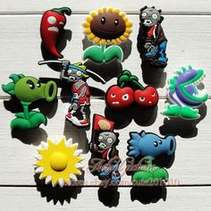 10Pcs Plants Vs Zombies Shoe Bracelet Charms Cake Toppers Party Favours 3cm in Toys, Hobbies, Character Toys | eBay!