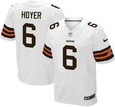 Cleveland Browns Jersey #6 Brian Hoyer White Elite