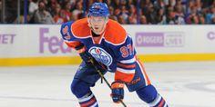 Edmonton Oilers' Connor McDavid unsure on return after break Connor Mcdavid, Edmonton Oilers, Nhl, Motorcycle Jacket, Hockey, Baseball Cards, Sports, Tops, Athletes