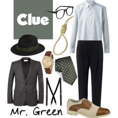 """""""Mr. Green 1 - Clue"""" by b-scottyer on Polyvore"""