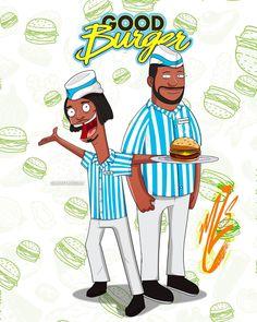 Good BurgerxBob's Burgers crossover Kenan Thompson, Nick Jr, Bobs Burgers, Good Burger, Bart Simpson, Your Favorite, Doodles, Crossover, Funny