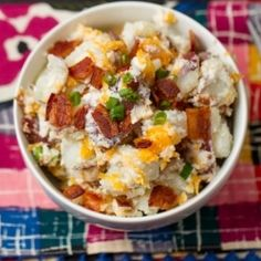 Loaded Baked Potato Salad - no butter, no sour cream, low fat cheese