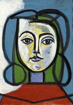 First Portrait of Jacqueline, 1952 Pablo Picasso