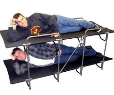 Camping bunk beds. I can see the scene from stepbrothers happening.
