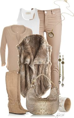 """""""Natural Neutrals"""" by fantasy-closet on Polyvore"""