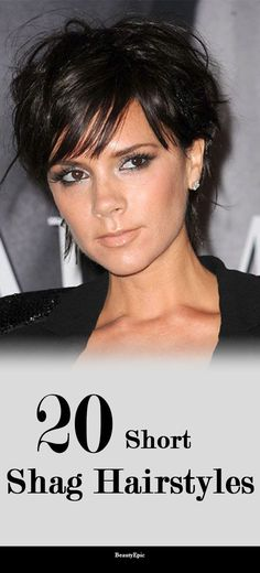 20 Short Shag Hairstyles and Haircuts Ideas - landscaping tips Short Layered Bob Haircuts, Shaggy Short Hair, Cute Hairstyles For Short Hair, Short Hair Styles, Hairstyles Men, Short Asymmetrical Haircut, Short Hair With Layers, Short Hair Cuts For Women, My Hairstyle