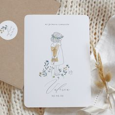 Communion Invitations, Festa Party, First Holy Communion, Announcement Cards, Sacred Art, Cute Drawings, Margarita, Christening, Watercolor