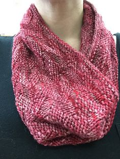 Zig Zag Cowl pattern by Amanda Ko. malabrigo Rios in English Rose