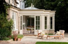 Glazed Timber Orangery in Oxfordshire