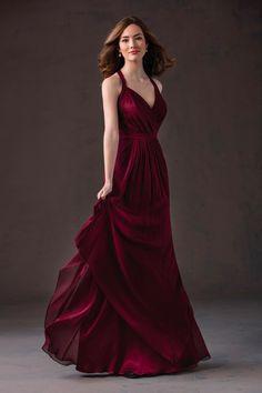 #BridesmaidDresses. Style L184058 in #cranberry. Jasmine