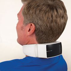 The Heat Therapy Neck Massager - Hammacher Schlemmer - Used by professional therapists, it is ideal for helping to relieve muscle pain and strain from driving, flying, or office work.