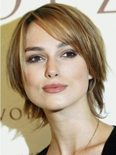 Keira Knightley Short Lace Front Blonde Straight Remy Human Hair Wig