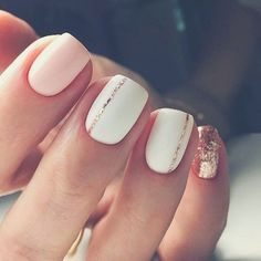 Want some ideas for wedding nail polish designs? This article is a collection of our favorite nail polish designs for your special day. Read for inspiration Short Nail Manicure, Manicures, Short Gel Nails, Short Nails Art, Nail Polish Designs, Nail Art Designs, Cute Nails, Pretty Nails, Smart Nails