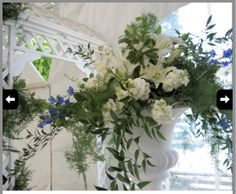 From SunBorn Flowers in Mount Horeb.  Something like this would be an option for the ceremony site.