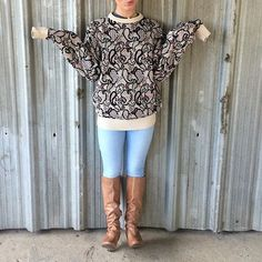 Vintage Neiman Marcus sweater. Size Large Vintage Neiman Marcus sweater! Tag states XL. Model in photo is a small. Looks super cute with leggings! Paisley design. Great condition Neiman Marcus Sweaters Crew & Scoop Necks
