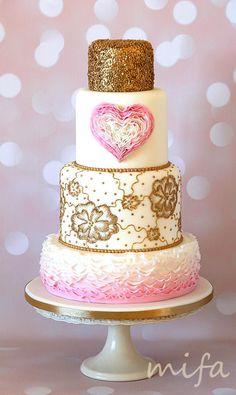 Wedding Romance - Cake by Michaela Fajmanova