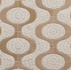 Walker Zanger - TANGENT™ Stone Mosaic  Ipanema : 10-3/8'' x 9-1/8''  Finish: Honed