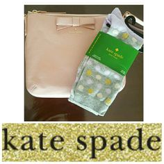 NWT Kate Spade socks Two pairs of brand new Kate Spade trouser socks. One pair is gray with ivory, sparkly gold & lavender polka dots. The other pair is lavender with a gray stripe at the top. One size. No trades. Open to offers only through the make an offer button. kate spade Accessories Hosiery & Socks