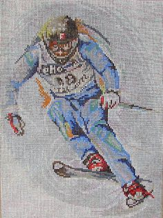 Rico printed needlepoint no. 57047  The Skier by MyStitchingGarden, $50.00