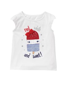 toddler girl Gymboree Treat Swing Tee