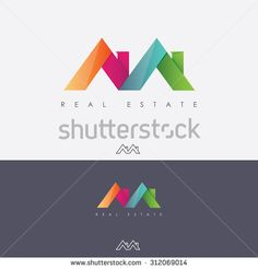 Vibrant multicolored real estate logo design in letter m shape made of abstract roof tops - stock vector Logo Foto, Roof Replacement Cost, Roofing Logo, Real Estate Logo Design, Abstract Logo, En Stock, Pictogram, Logo Inspiration, Roof Tops