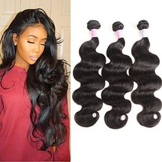 Ifolder Hair Brazilian Remy Hair Body Wave 3 Bundles Real Human Hair Weaves Full Head 100 Unprocessed Hair Extensions Natural Color Total 20 20 20 * You can find more details by visiting the image link-affiliate link. Date Hairstyles, Headband Hairstyles, Deep Wave Brazilian Hair, Beauty Salon Equipment, Wave 3, Body Wave Hair, Hair Blog, Wig Styles, Human Hair Extensions