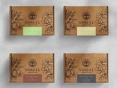 Get inspiration for your next soap packaging project from over 200 ideas. YourBoxSolution can help you create any of the boxes, sleeves and labels seen on the page. Kraft Box Packaging, Handmade Soap Packaging, Candle Packaging, Packaging Ideas, Packaging Design, Soap Packing, Soap Labels, Branding, Home Made Soap