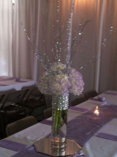 pinterest bling wedding ideas | Hydrangea centerpiece with bling... Flowers By ... | wedding ideas