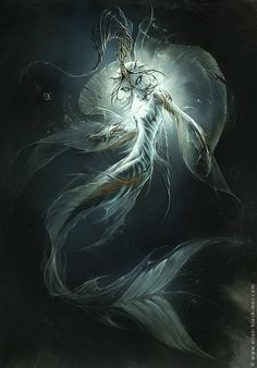 fantasy blue mermaid with spiked hands  | Elian Black'Mor...