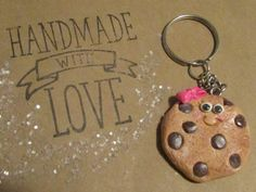 Check out this item in my Etsy shop https://www.etsy.com/listing/501715333/chocolate-chip-cookie-keychain-cookie