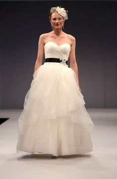 Anne Barge - Sweetheart A-Line Gown in Tulle