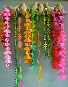 #felt #garland #decoration i'm a sucer for rainbows and when fall comes i make leaves and put them up in the trees trying to make fall last longer