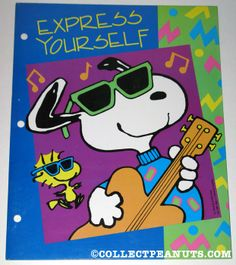 Hippie Snoopy(Peanuts) on face book | Snoopy playing guitar and Woodstock 'Express Yourself' Portfolio ...