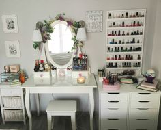 my vanity, make-up table