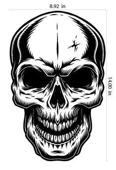 Buy Monochrome Illustration of Skull by imogi on GraphicRiver. Monochrome illustration of skull without jaw. On white background Skull Tattoo Design, Tattoo Designs, Manos Tattoo, Skull Template, Monochrome, Halloween Party Poster, Spooky Halloween, Skull Stencil, Skulls