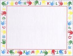 "free school boarders for boys | Alphabet Border , School Printable Award Certificates , 8.5""x11"" , 100 ..."