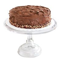 Ukrainian Festive Walnut Torte.  coffee-flavored whipped cream filling and creamy mocha frosting