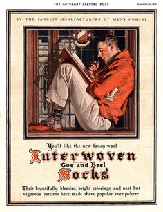 J.C. Leyendecker / Interwoven Socks ad