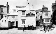Old image of the Sloop Inn - St Ives