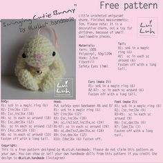 "143 Likes, 24 Comments - LuiLuh ♡ amigurumi patterns (@luiluh.handmade) on Instagram: ""Danke für 100 Follower und viele ♡ Als kleines Dankeschön meine erste geschriebene Anleitung....…"""