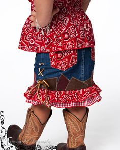 Cowgirl Western Rodeo Dress 2 piece Set 2T, 3T, 4T. $75.00, via Etsy.